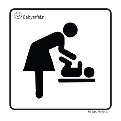 sticker babyverschoonplaats
